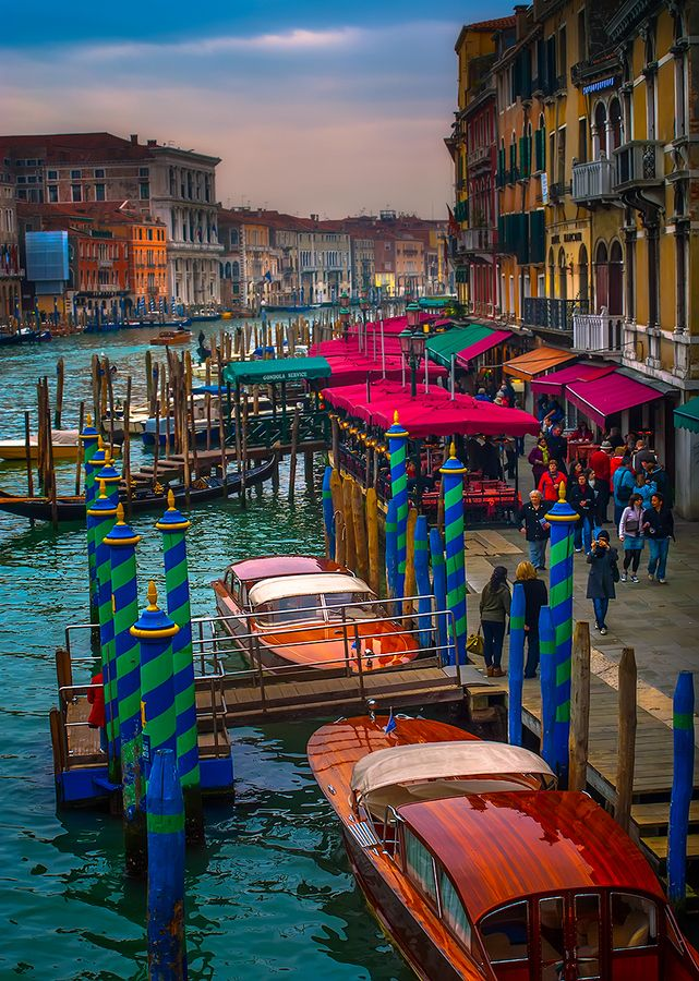 Grand Canal, Venice* The last morning, we took the water taxi to the airport through the back canals. 10 hours later we landed in Boston. Culture shock!