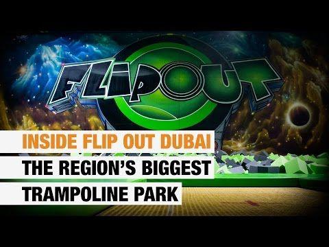 Inside Flip Out Dubai, the region's biggest trampoline park - YouTube