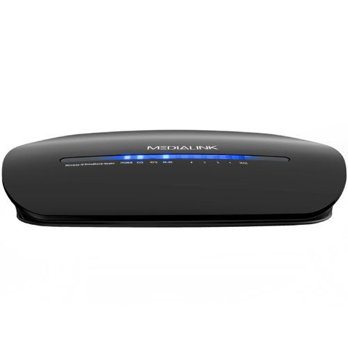 Medialink Wireless-N Broadband Router with Internal Antennas (300 Mbps) - 2.4GHz - 802.11b/g/n - Compatible with Windows 8 / Windows 7 / Windows Vista / Windows XP / Mac OS X / Linux An ideal and secure way to add a wireless internet connection to your standard-sized home or small office, with wireless connection speeds of up to 300 Mbps. Easily browse the web, transfer files, check E-mails, chat ... #Medialink #PCAccessory