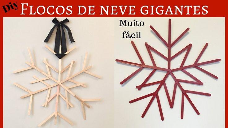 Diy- ornamento natalino- floco de neve
