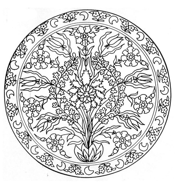 mandala flowers 3 coloring pages printable and coloring book to print for free find more coloring pages online for kids and adults of mandala flowers 3