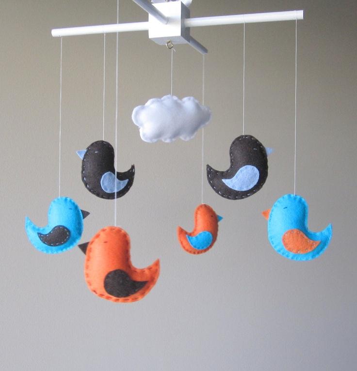 265 best diy birds images on pinterest little birds for Bird mobiles for nursery