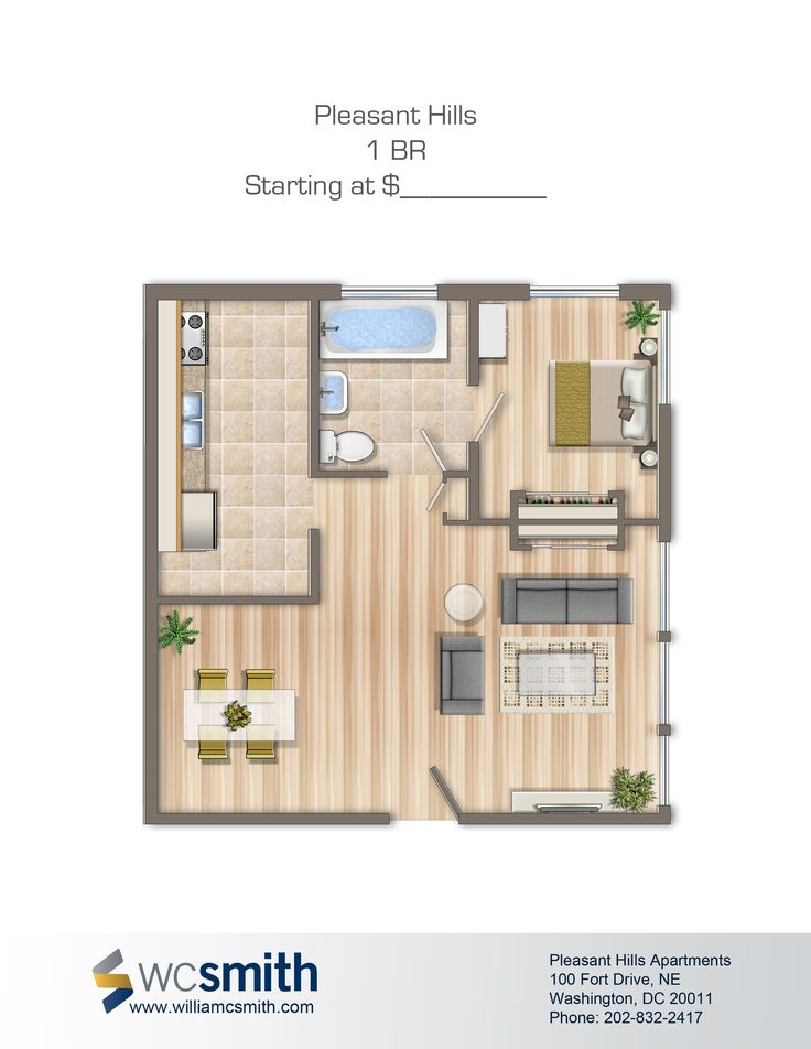 One Bedroom Floor Plan   Pleasant Hills in Northeast Washington DC   WC  Smith  Apartments. 24 best Dc images on Pinterest