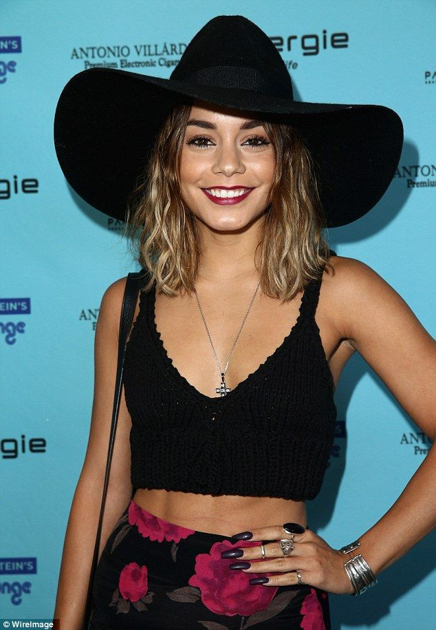 Hard to miss: Vanessa Hudgens set a new standard for giant hats in West Hollywood