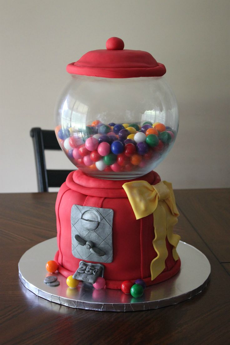 8 best Candy Machine cake images on Pinterest | Bubble gum ...