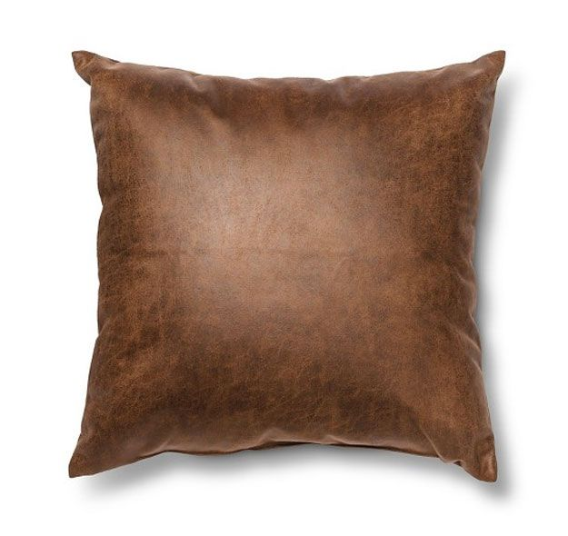Faux Leather Throw Pillow | These 16 Target Home Decor Finds Will Transform Your Space This Fall, Find Them Here: http://youresopretty.com/target-home-decor/