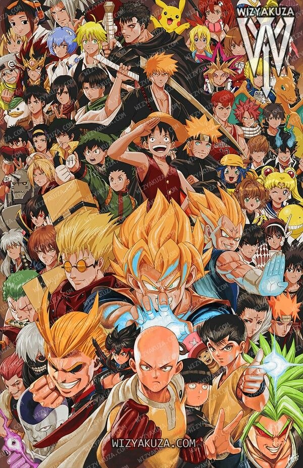 Mega Crossover Of Various Shounen Anime Characters Anime