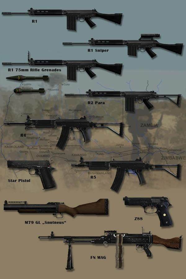 South African infantry weapons