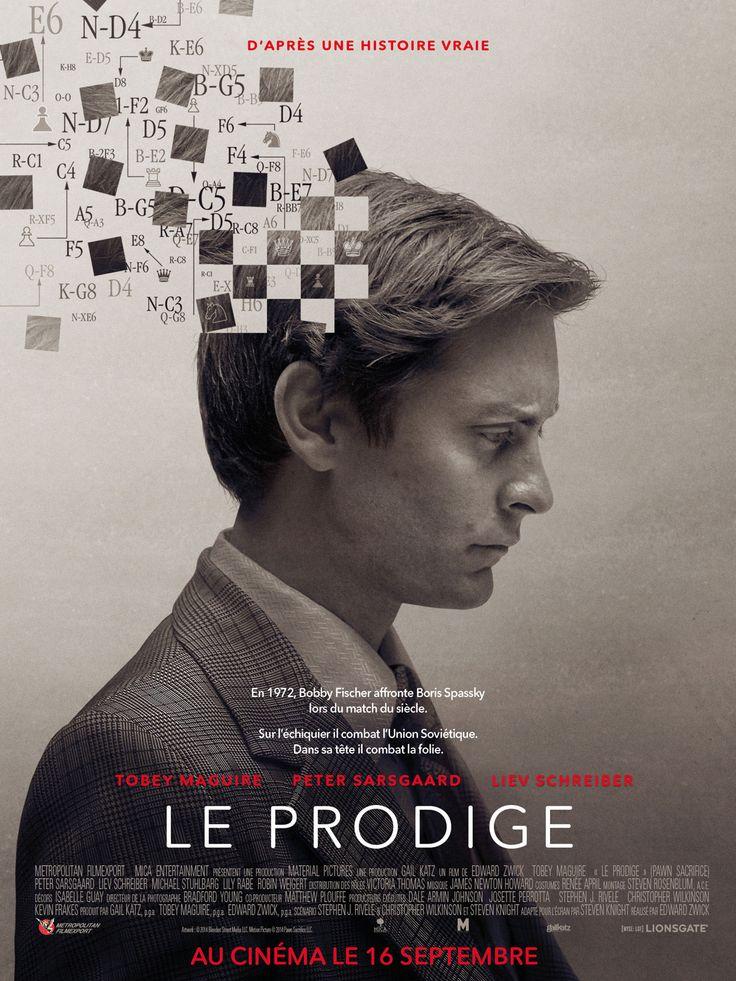 Le Prodige est un film de Edward Zwick avec Tobey Maguire, Liev Schreiber. Synopsis : L'histoire de Bobby Fischer, le prodige américain des échecs, qui à l'apogée de la guerre froide se retrouve pris entre le feu des deux s