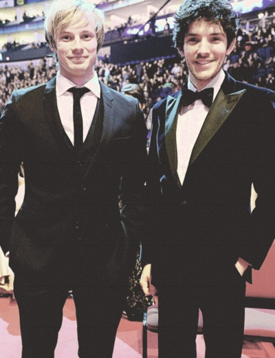 Bradley James & Colin Morgan... Cuz British guys like making females have heart attacks.