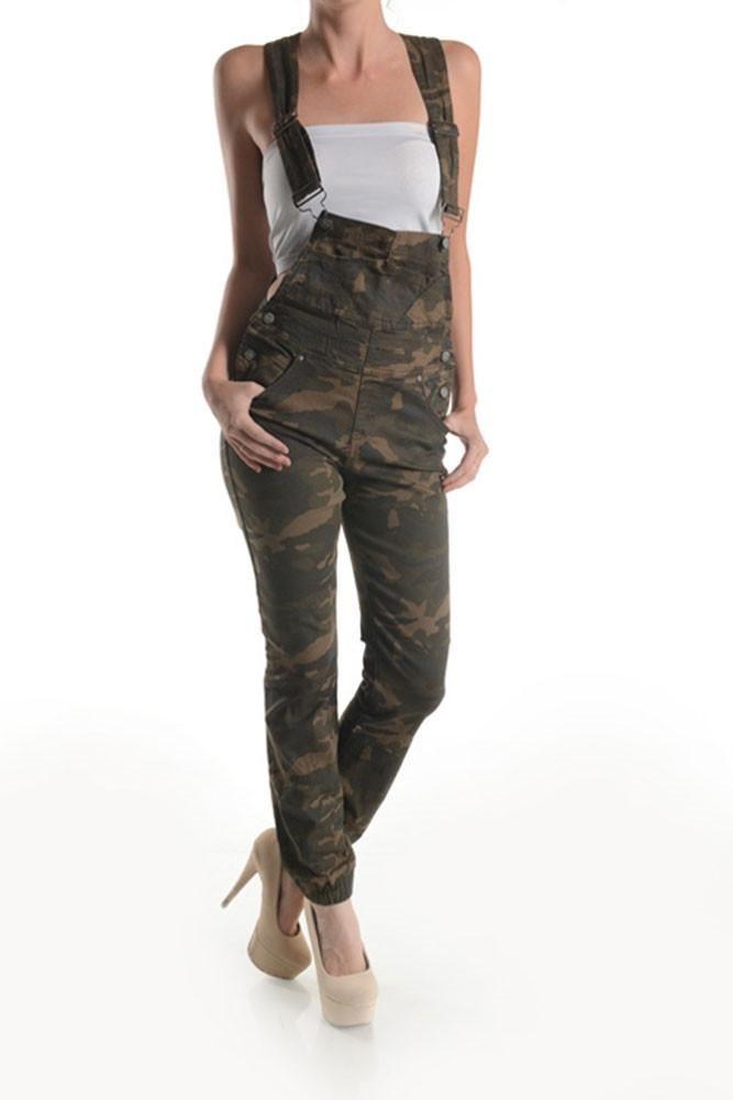 Women's Camo Print Overalls RJHO147A - GStyleUSA.com – G-Style USA