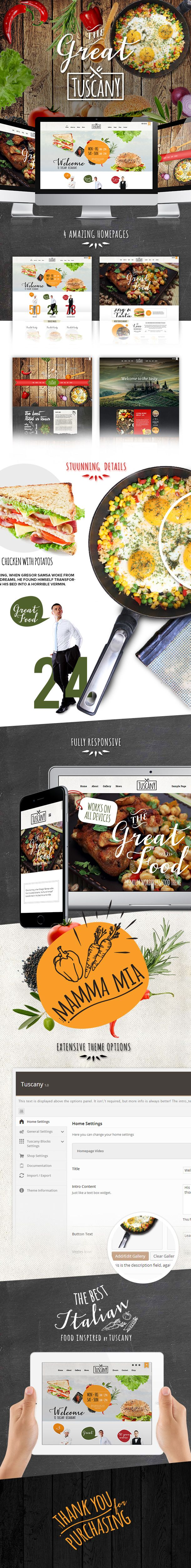 WordPress - Tuscany - Restaurant Shop Creative WordPress Theme   ThemeForest