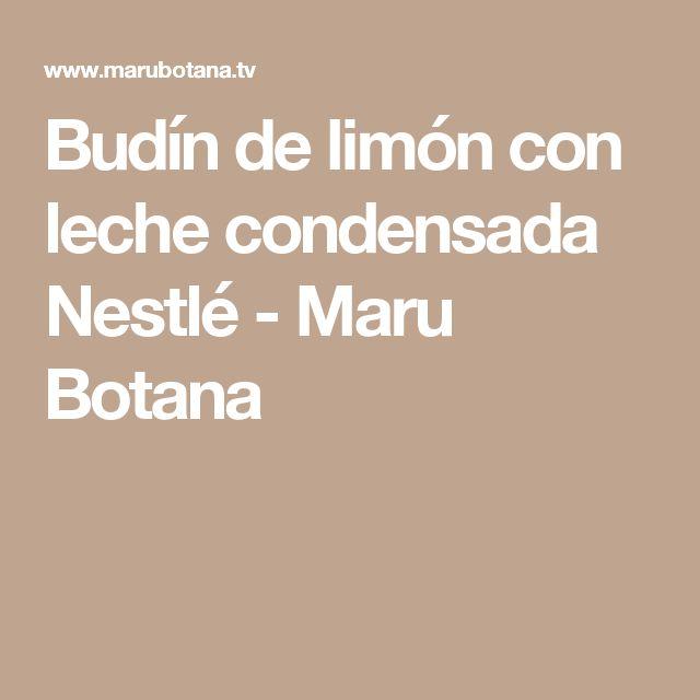Budín de limón con leche condensada Nestlé - Maru Botana