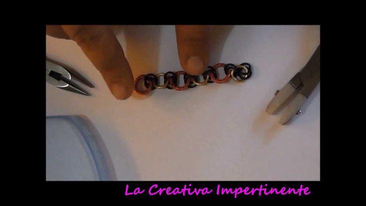 Tutorial chain mail e micro maille: bracciale e orecchini | DIY Infinity...