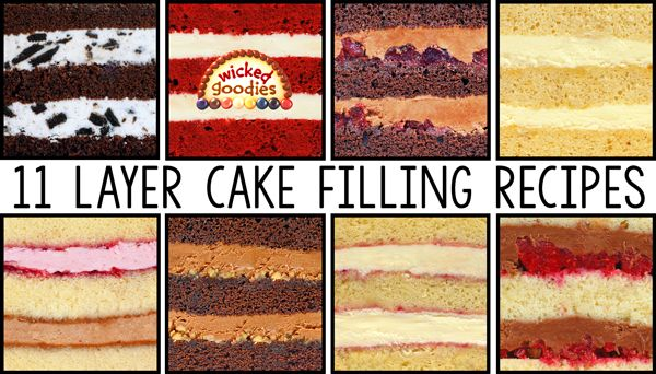 How To Fill Layer Cakes In The Baking Pan Cake Filling Recipes