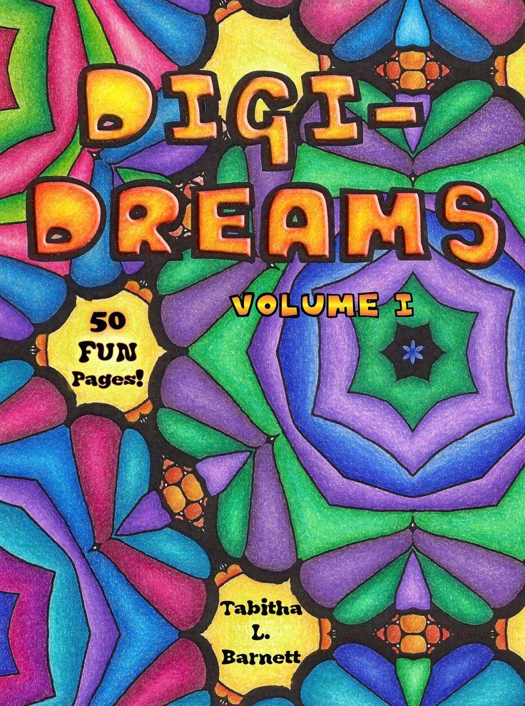 Digi Dreams Adult Coloring Book PDF Vol I
