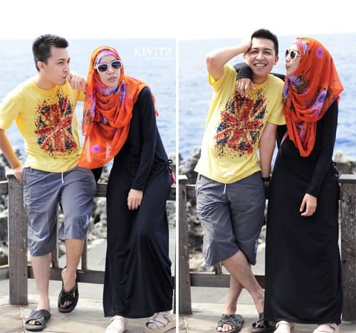 Fitri Aulia and her husband. Sweet couple,right?<3