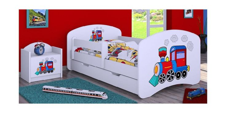 Vacker barnsäng till husets liten pojke. Sängen är komplett med stödbräda, justerbar eller avtagbar säkerhetssida, stor underlåda ocht komfort madrass. Sängen er gjort av MDF och har fina klistermärken på gavlarna.Klistermärkarna är stängt av vita kanter, so barnet inte river av dom. Sängen levereras med en läckerkomfort madrass, certificeret med Økotex 100, det är ensuper god kvalitets juniormadrass, som är antibakteriel och allergivänlig. Madrassen er gjort av kokos ochg gryko, och har…