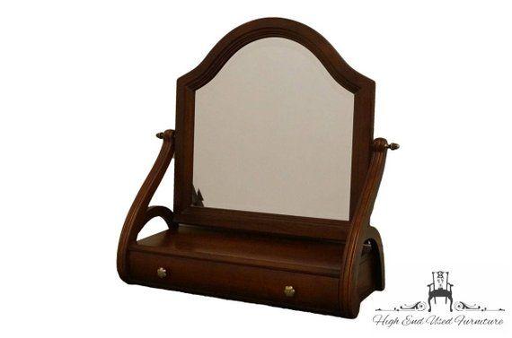 Ethan Allen British Classics Dresser Top Mirror W Drawer 29 5400