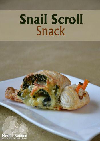 Snail scroll snack