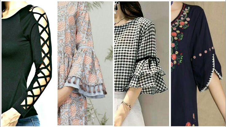 74e8300023dc42c13b2aa20bc089e576 - Top 50 Sleeves Designs For Kurti Kurta Frocks 2018 - Latest Style For Girls