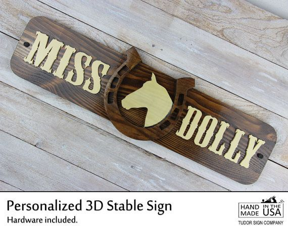Rustic Personalized Stable Sign Horse Sign by TudorSignCompany