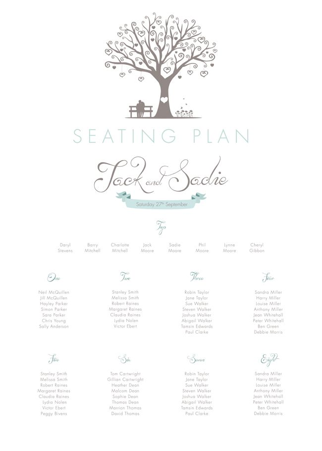 7 must-see table plan ideas to match 2014's top wedding themes