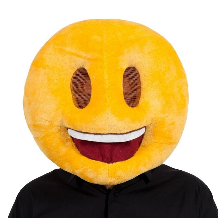 Tête de mascotte - Smiley - Mascotte Discount - Fiesta and co