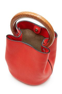 Pannier Leather Shoulder Bag   Marni