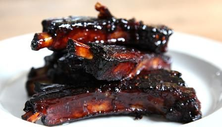 Honey roast ribs with anise,these ribs will be legendary one day,unbelievable flavours,sticky sweet and spicy,perfection!!!!!!!The charring of them slightly at the end of the cooking process adds another dimension of flavour.