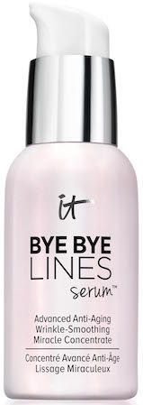 IT Cosmetics Bye Bye Lines Serum is one of my new favorites. Hydrating + anti-aging benefits!