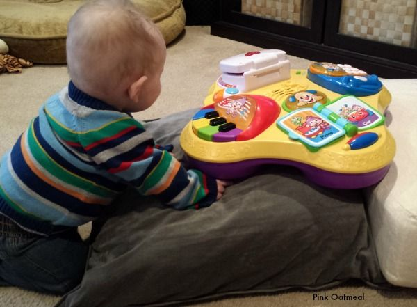 Baby Activity Table - Pink Oatmeal