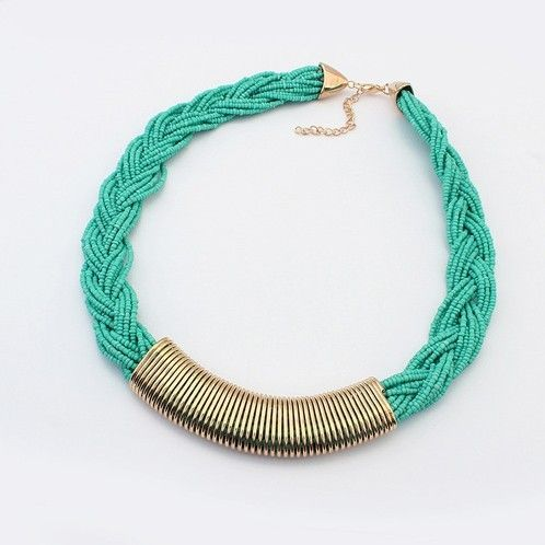 Hand-woven beaded necklace choker statement necklace for women fashion necklaces & pendants jewelry wholesale!#2132 US $5.47