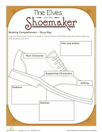 The 7 best images about The Elves and the Shoemaker on Pinterest - story map template