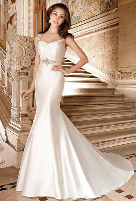 vestido novia demetrios color champagne - vestido de novia