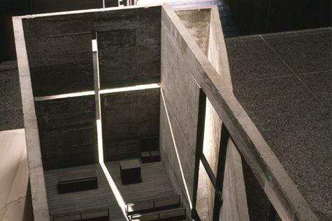 inside model view of the church of the light, osaka, japan / tadao ando