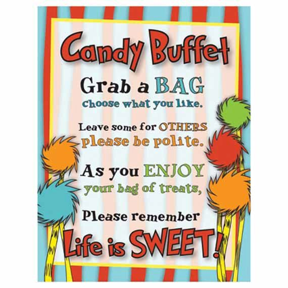 Candy Buffet Sign Baby Shower Birthday Party Life Is Sweet In 2018