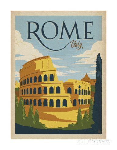 Rome, Italie Posters par Anderson Design Group sur AllPosters.fr