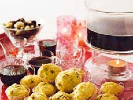 Miniscones med saffran och fikon