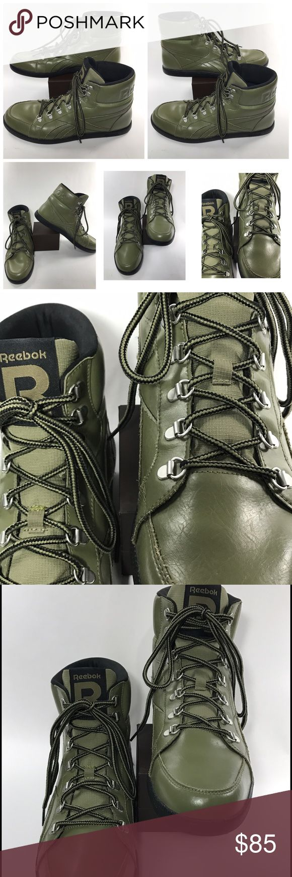 """Reebok SI Berlin Green Combat Boots Shoes """"Rare"""" Reebok SI Berlin Green Combat Boots Shoes """"Rare""""   Sneakers Athletic Size 11.5   EUR 45 Reebok Shoes Combat & Moto Boots"""