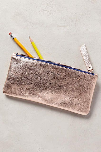 Gilded Parisienne Pencil Case - anthropologie.com - Rose Gold
