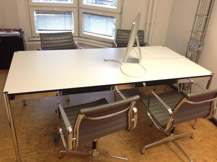 USM Haller Schreibtisch 200 x 100 weiss