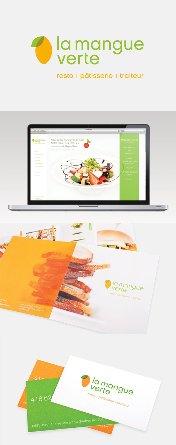 Client : La Mangue Verte - Design graphique, image de marque, outils corporatifs, photographie, site Web transactionnel.