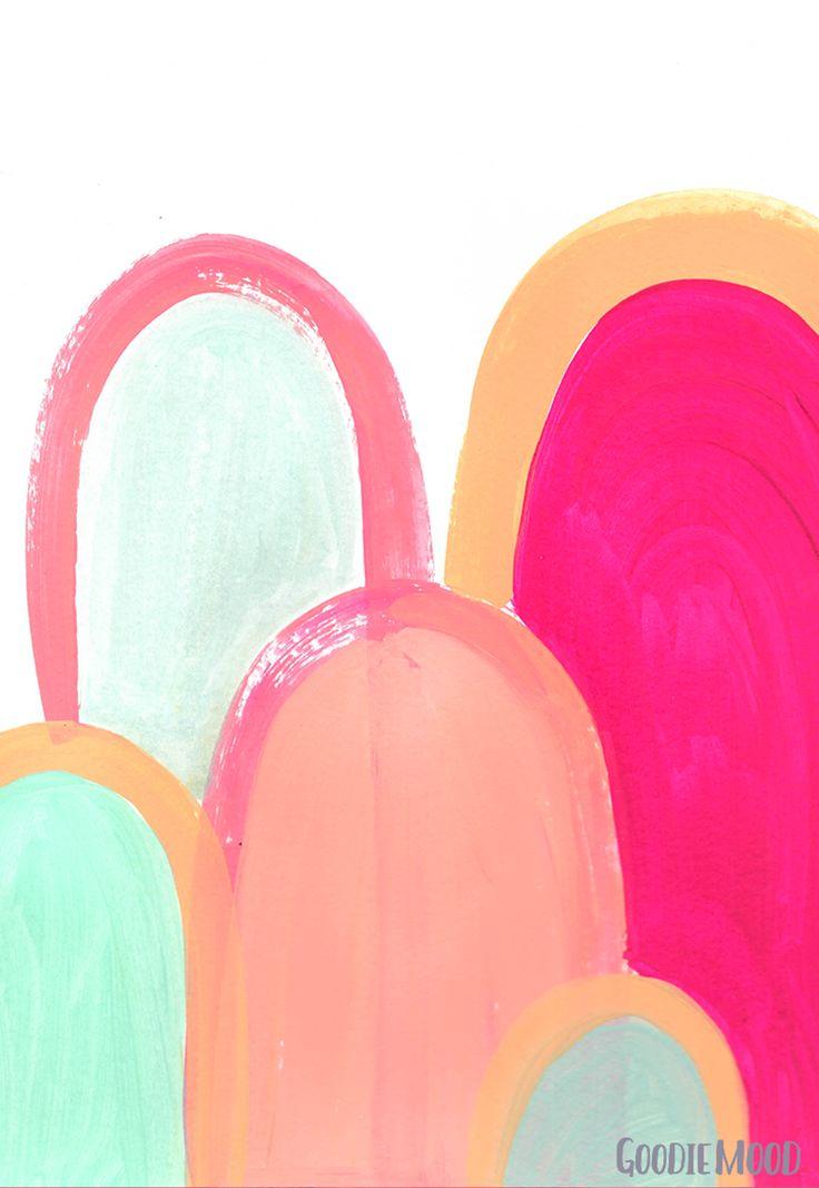 peinture abstraite doigts