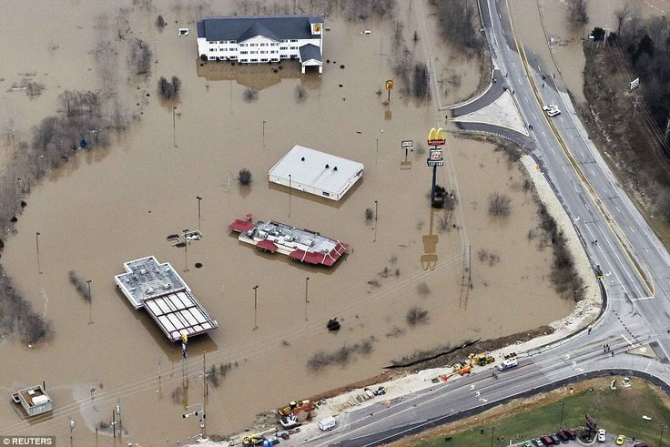 A storm system that triggered deadly tornadoes and flooding in the U.S. Midwest and Southw...