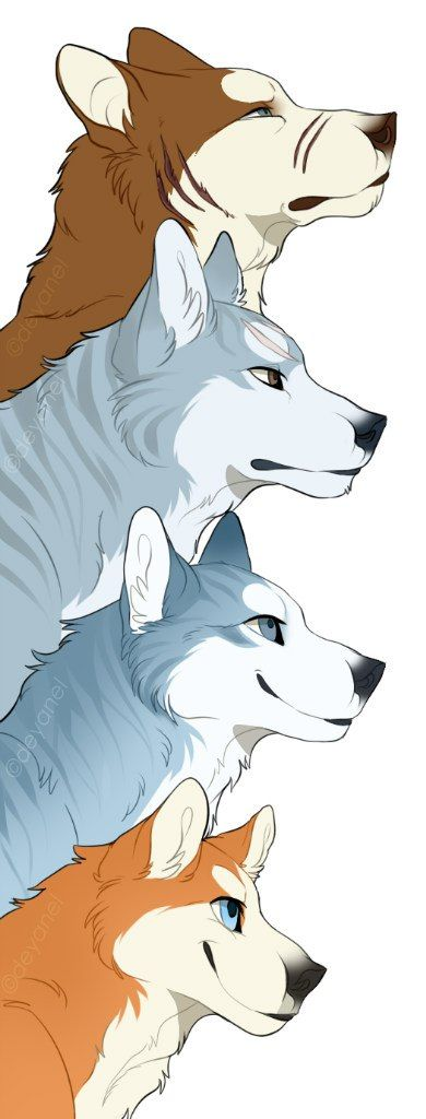 Riki, Gin, Weed, and Orion - four generations of Ginga heroes.