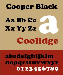 copper black font