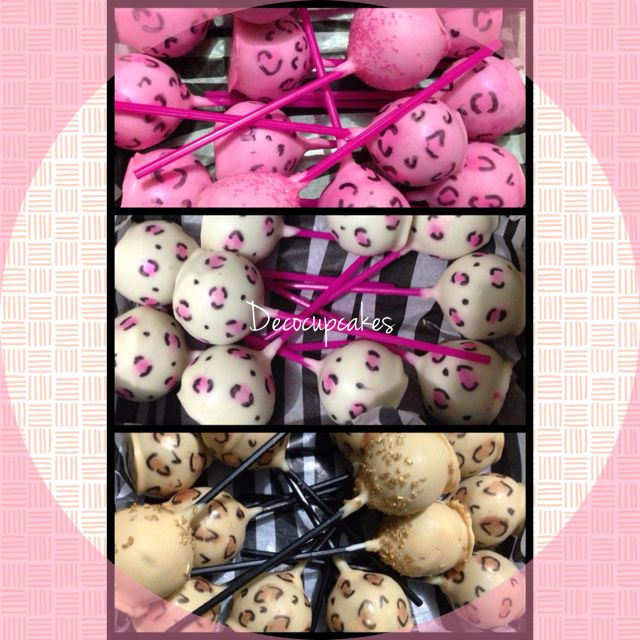 Animal Print Cakepop's