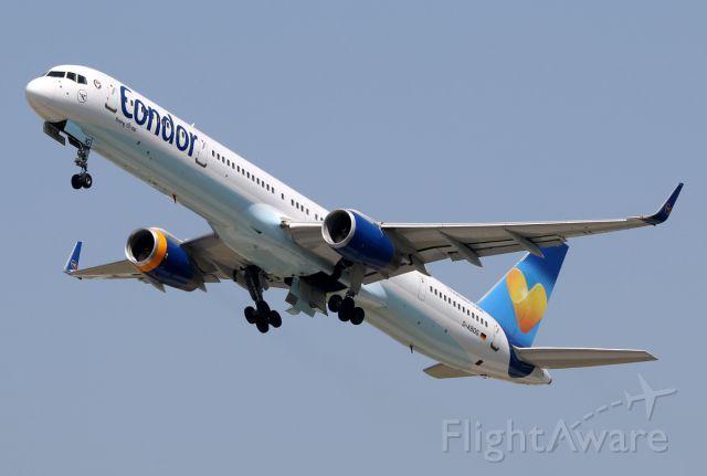 Condor Boeing 757-330 (registered D-ABOG) departing EDDM