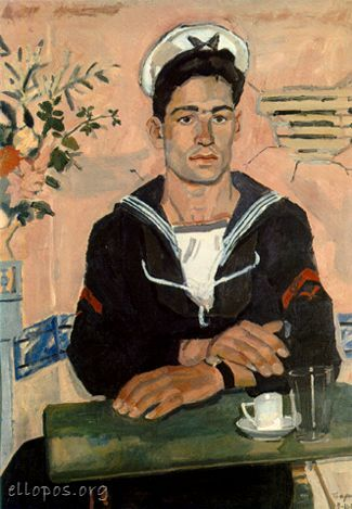 Sailor At The Table--Yannis Tsarouchis (1910-1989)